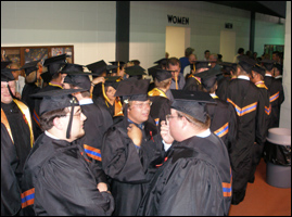 Group in Line at Graduation